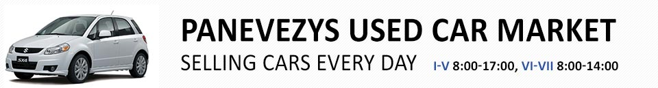 Used car market Panevezys
